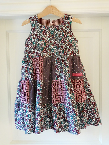 Twirly patchwork dress