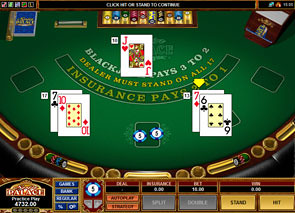 European Blackjack Microgaming Win