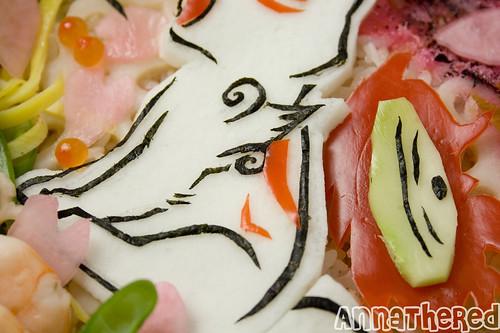 Non-bento #33: Okamiden gomoku-sushi