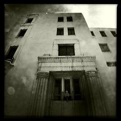 The Haunted Hospital #02 (genshi) Tags: hauntedhospital iphone4 johnslens iphoneography hipstamatic claunch72monochromefilm