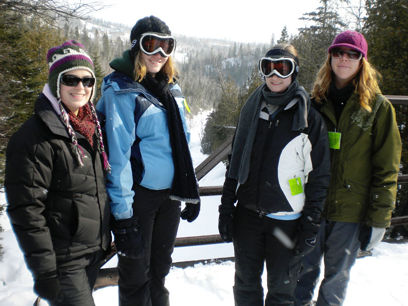 The Snowshoeing Crew