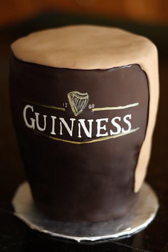 """Baker's Cakes: 6"""" Pint of Guinness Cake!"""