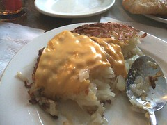 Hashbrowns onion cheese