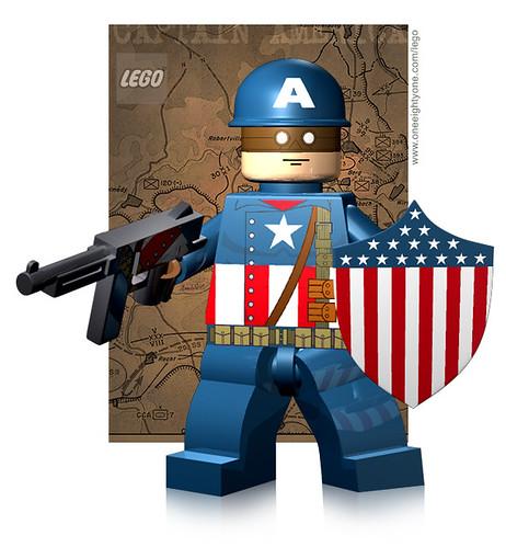 Custom minifig WWII captain america custom minifig