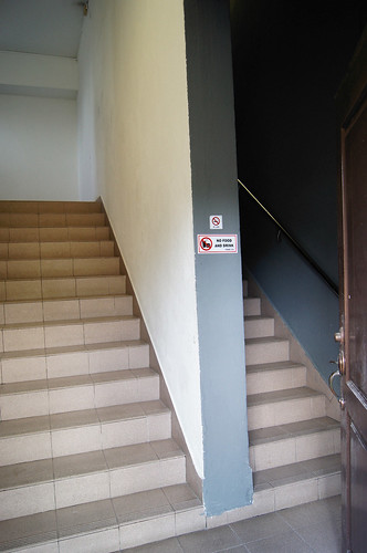 Stairs to mezzanine level