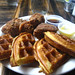 Fried chicken and bacon waffles
