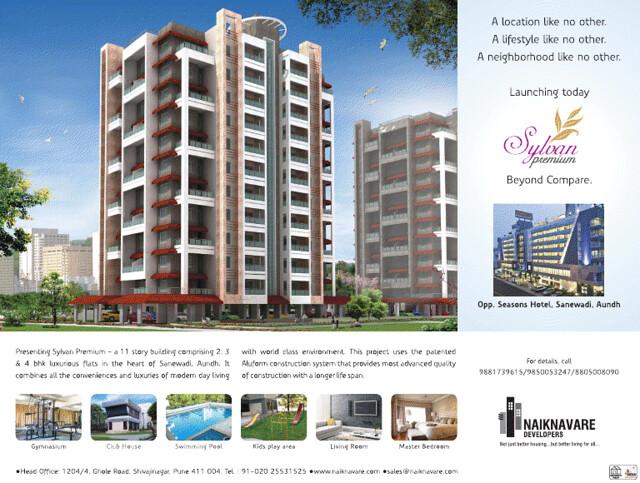 Naiknavare's Sylvan Premium 2 BHK 3 BHK 4 BHK Flats in Sanewadi Aundh Pune