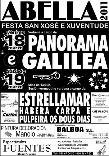 Abella 2011 - Festas de San Xosé - cartel