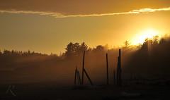 Misty Glow (~Robb) Tags: sunset beach vancouver island nikon long 2010 d700
