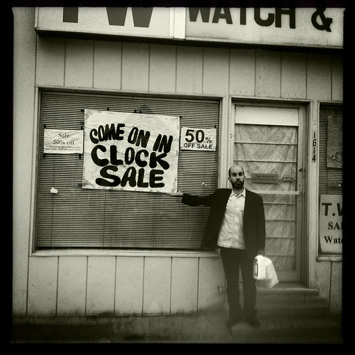 Aidan and the clock sale
