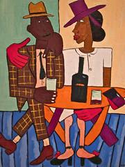 Cafe, Washington, DC (Robby Virus) Tags: portrait usa black art museum painting smithsonian dc washington cafe districtofcolumbia gallery african harlem capital national american painter renaissance williamhjohnson