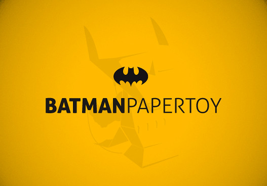 batman papertoy
