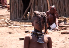 Himba tribe, Namibia (sarahchats) Tags: africa people girl african culture tribal safari afrika tribe ethnic namibia tribo himba afrique ethnology tribu namibie tribus ethnie
