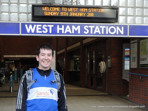 Stephen at West Ham Tube station