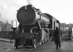 ex-WD no.90378 shunting in Bridlington yard. 31 December 1964 (ricsrailpics) Tags: