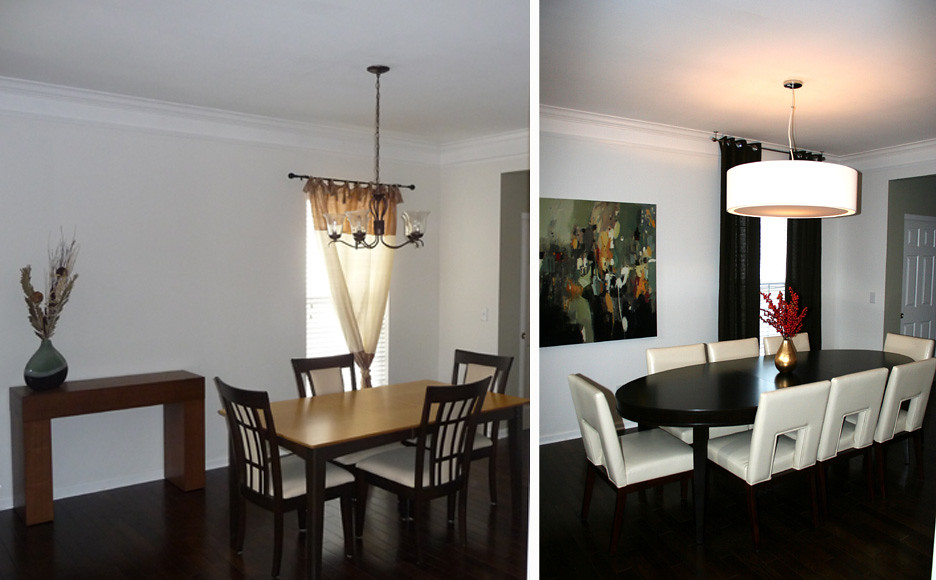 before-after dining room by cke interior design