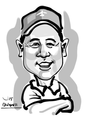 Ipad digital caricature live sketching for AES Sports Showdown - 6