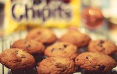 cookies (Shandi-lee) Tags: brown cookies yellow baking chocolate cook tasty homemade treat baked chocolatechipcookies cookiescoolingonarack