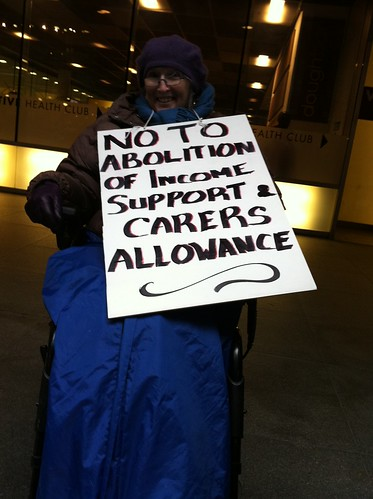 No to abolition of Income Support and Carer's Allowance
