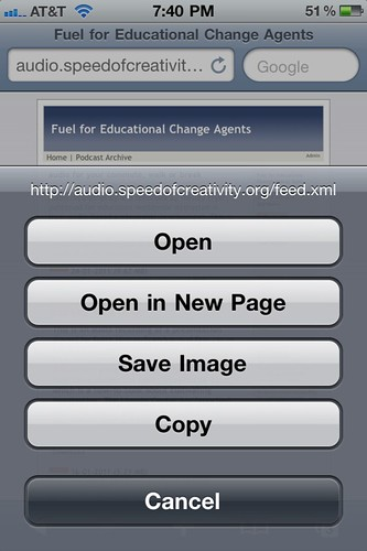 Click on a link in Safari on your iOS device and choose to COPY the URL