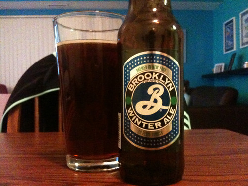 Finally get to the rest of those Christmas ales in the fridge. Tonights brew: @BrooklynBrewery Winter Ale.