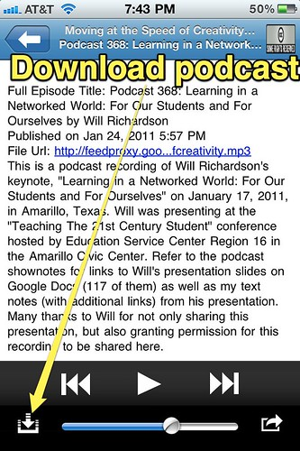 Download Podcast in Podcaster
