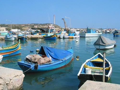 Boats at Marsaxlokk port
