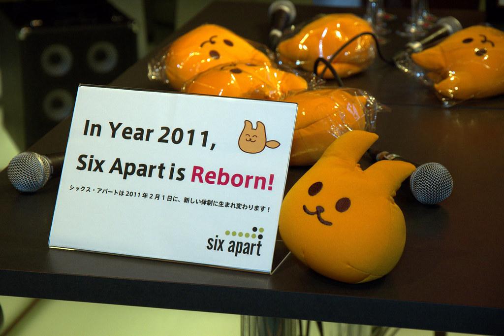 In Year 2011, Six Apart is Reborn!