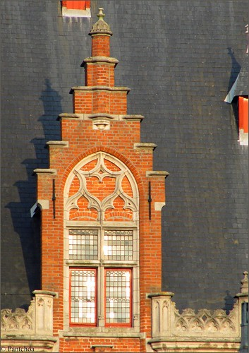 Bruges : Markt  in the late afternoon : Posterijen 3/4