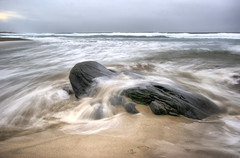 Smooth water (Arnfinn Lie, Norway) Tags: ocean sea beach water norway rock stone waves rogaland vigdel carlzeiss1680mm sonyalpha350 arnfinnlie carlzeisslover ginordic1