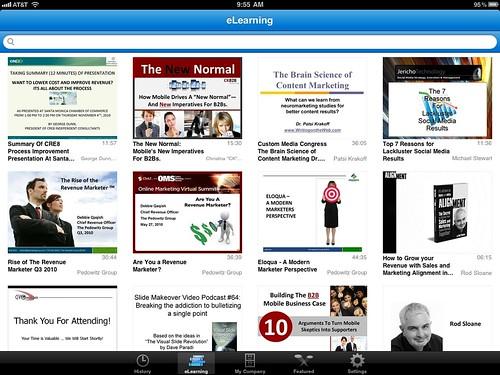 Brainshark iPad app - eLearning Tab