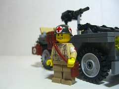 WWII U.S Medic (Sean-Michael Griffin) Tags: world 2 two war with lego wwii custom medic decals minifigure