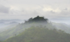 [フリー画像] 自然・風景, 山, 霧・霞, 201101281300