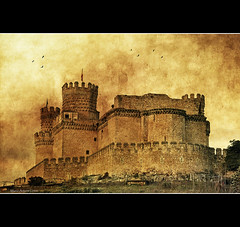 Castillo de Manzanares el Real - (Serie) Castle of Manzanares el Real (Marco Antonio Losas) Tags: winter castle birds clouds images textures pajaros nubes invierno imagenes serie castillo texturas storks manzanareselreal comunidaddemadrid cigeas sierrademadrid castillodemanzanareselreal castillodelosmendoza castillonuevo marcoantoniolosas