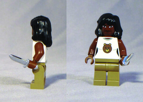 Custom minifig Grizzly Bear custom minifigure