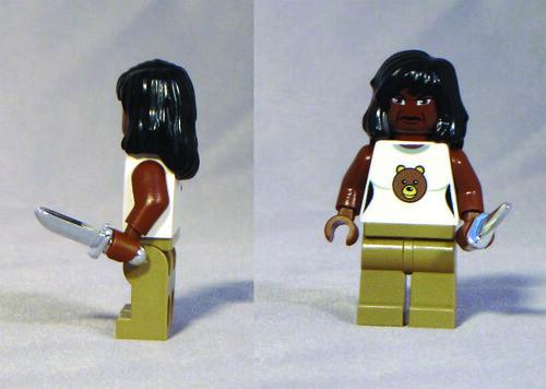Custom minifig Grizzly Bear custom minifigure