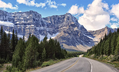A Road to Behold (Jeff Clow) Tags: canada mountains nature parkway albertacanada roadway banffnationalpark mountainrange icefieldsparkway