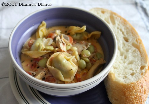 Chicken and Tortelloni Soup