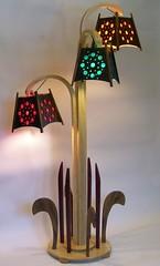 Fleur de Lamp 1 (joe_gergen) Tags: lighting wood light sculpture lamp furniture walnut shade