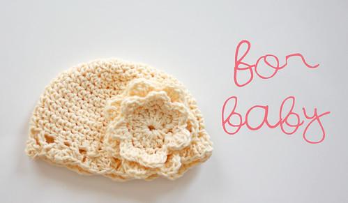 Yellow Baby Cloche Hat