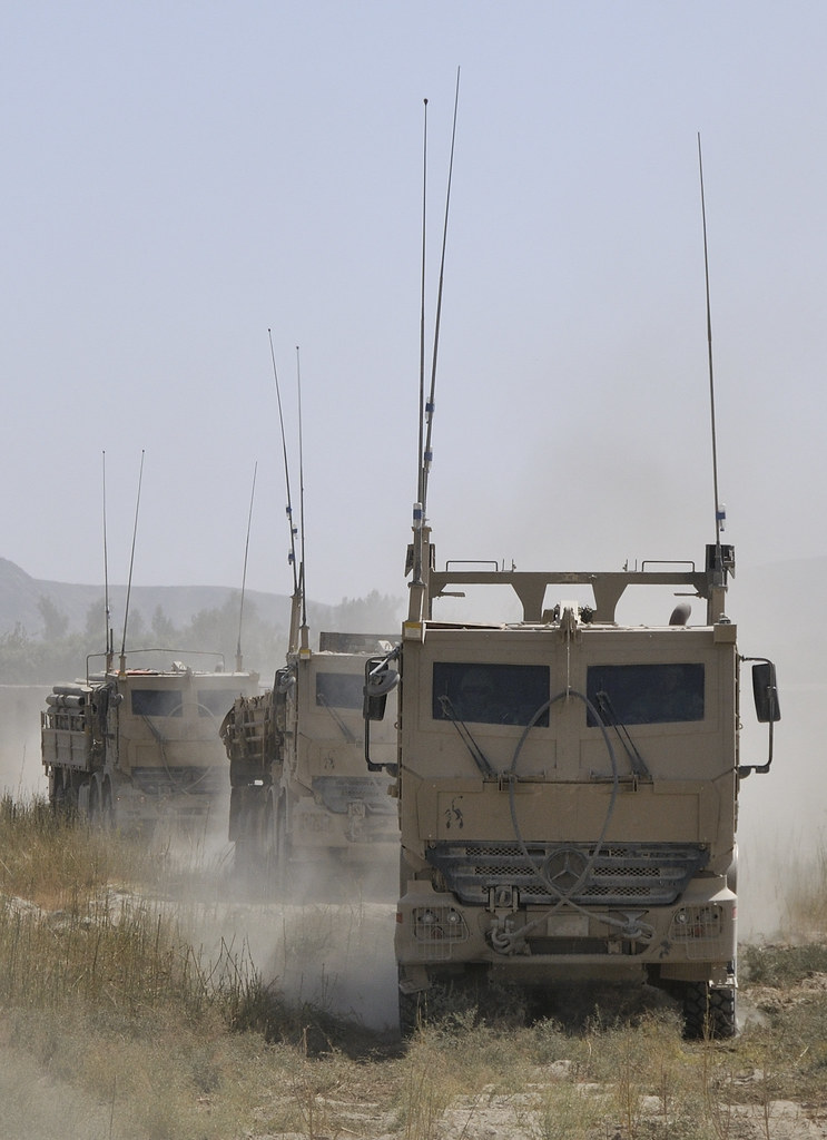 Convoy of Armoured Heavy Support Vehicle Systems