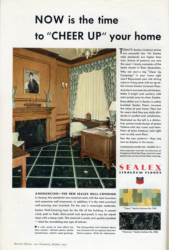 Sealex Linoleum Floors 1932