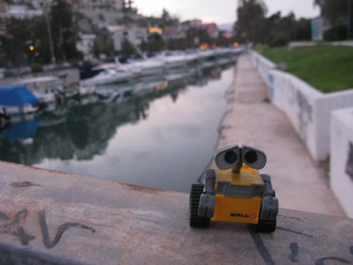 Wall-E went for a stroll