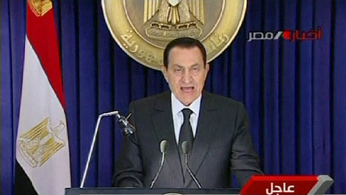 Mubarak speaks on national TV