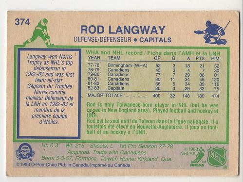 Rod Langway 8384 - back