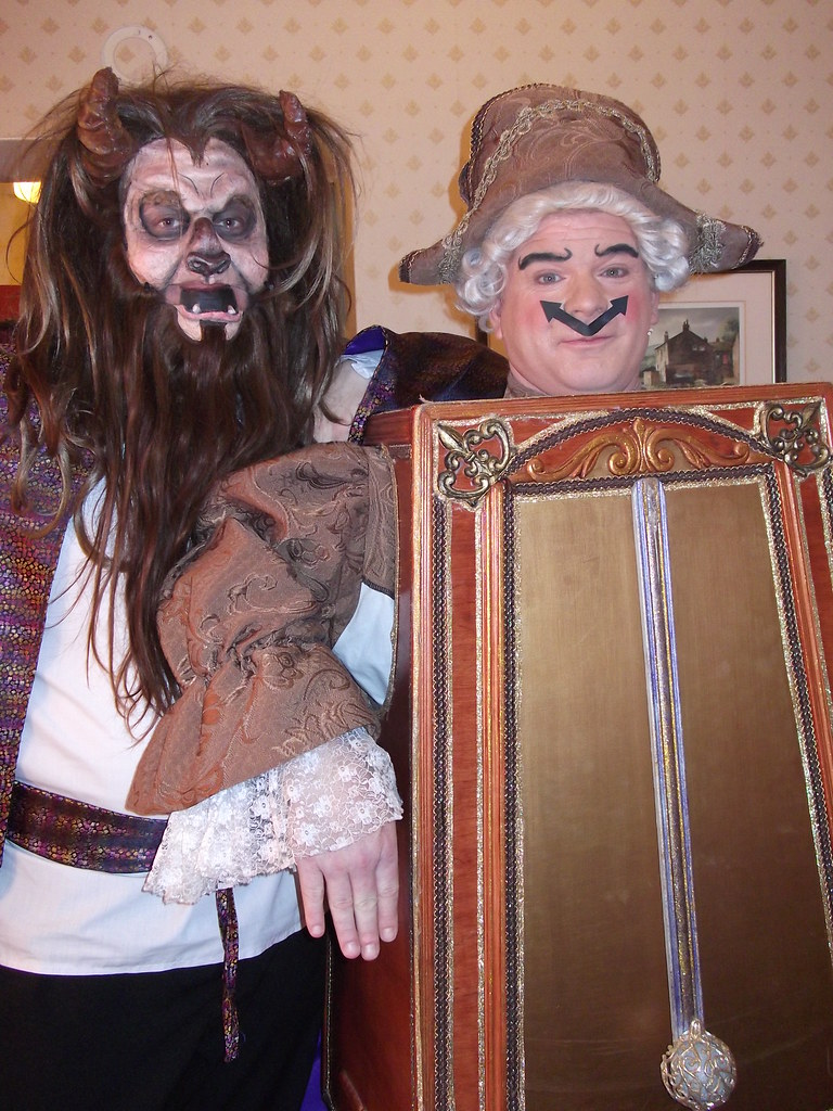 Beast and Cogsworth