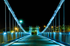 Wellington Bridge Aberdeen3 (w11buc) Tags: bridge night suspension harbour aberdeen wellington dee 5photosaday greatscot wellingtonsuspensionbridge efs1585mmisusm