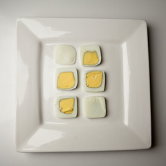 a square meal (Podkin) Tags: square egg plate boiled t189522011week4