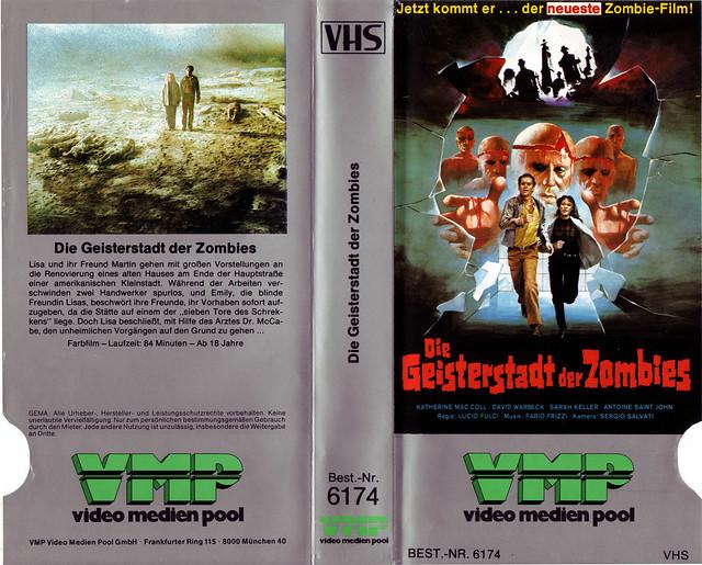 Geisterstadt der Zombies (VHS Box Art)