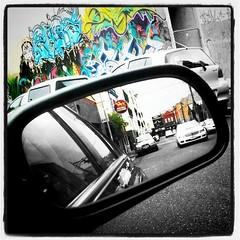fitzroy (jonathan sander) Tags: street 3 art wall project mirror rainbow graf rear fitzroy melbourne vision 365 app iphone draught carltom instagram